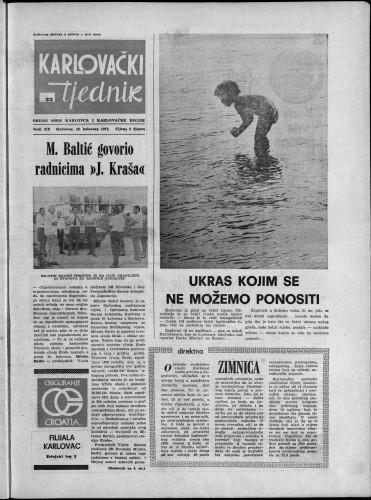 Karlovački tjednik: 1973 • 33