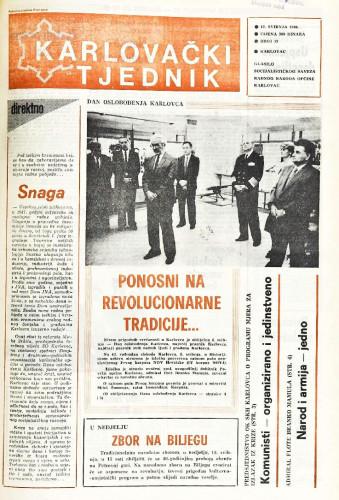 Karlovački tjednik: 1988 • 19