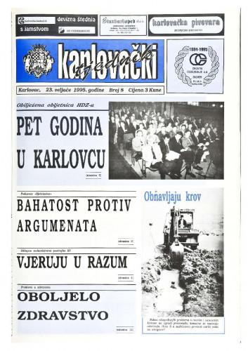 Karlovački tjednik: 1995 • 8