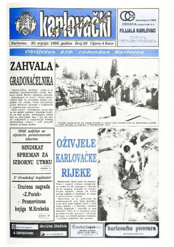 Karlovački tjednik: 1995 • 29