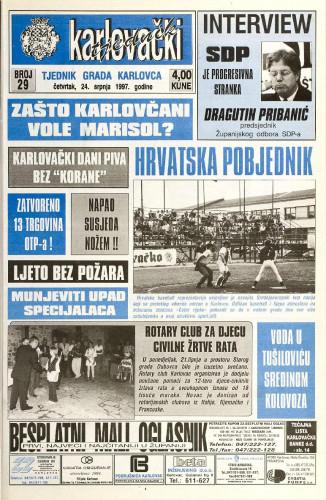 Karlovački tjednik: 1997 • 29
