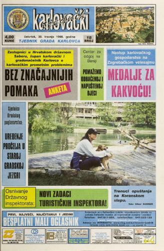 Karlovački tjednik: 1998 • 18