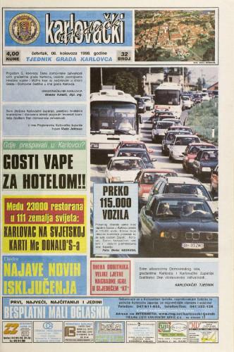 Karlovački tjednik: 1998 • 32