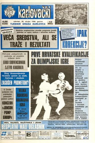 Karlovački tjednik: 1998 • 13