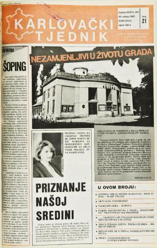 Karlovački tjednik: 1987 • 21