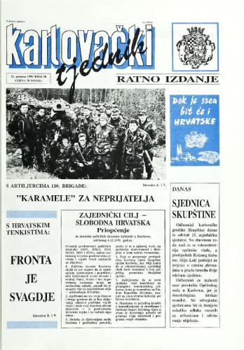 Karlovački tjednik: 1991 • 50