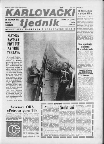 Karlovački tjednik: 1978 • 34
