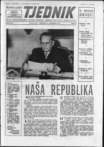 Karlovački tjednik: 1958 • 48