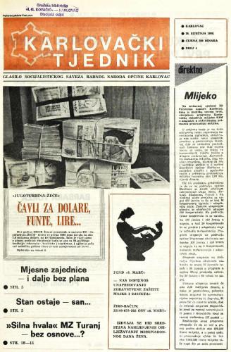 Karlovački tjednik: 1988 • 4