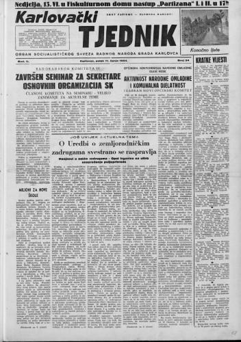 Karlovački tjednik: 1954 • 24