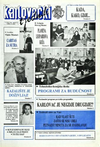 Karlovački tjednik: 1992 • 18