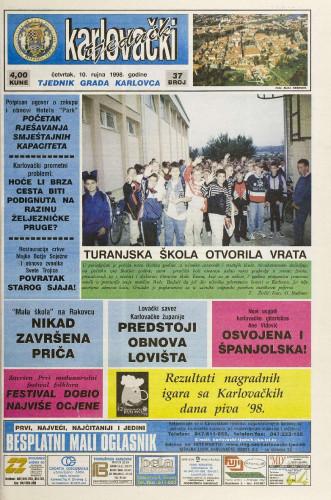 Karlovački tjednik: 1998 • 37