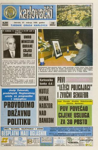 Karlovački tjednik: 1998 • 19