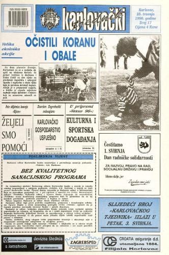 Karlovački tjednik: 1996 • 16