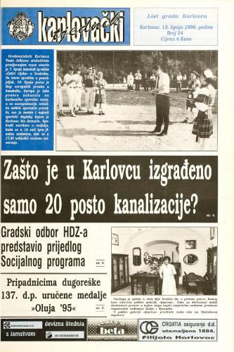 Karlovački tjednik: 1996 • 23