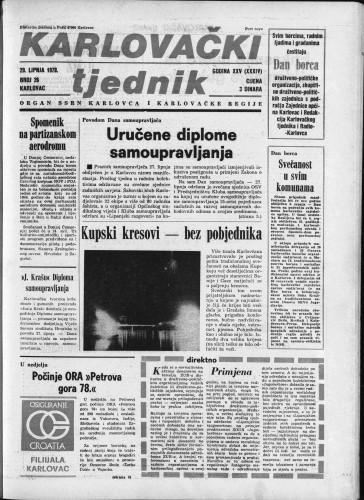 Karlovački tjednik: 1978 • 26