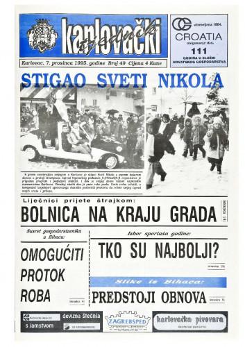 Karlovački tjednik: 1995 • 49