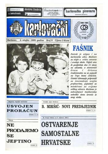 Karlovački tjednik: 1995 • 9