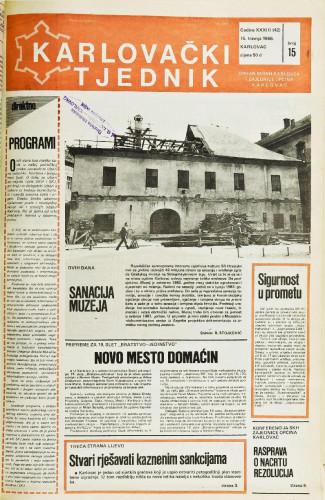 Karlovački tjednik: 1986 • 15