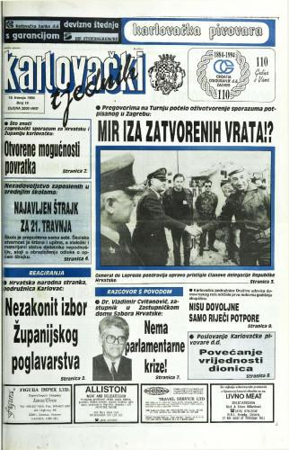 Karlovački tjednik: 1994 • 15