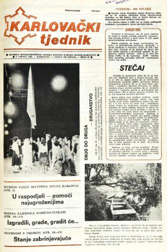 Karlovački tjednik: 1988 • 22