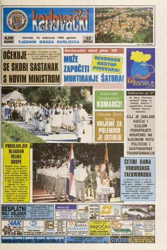 Karlovački tjednik: 1999 • 33