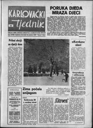 Karlovački tjednik: 1970 • 51