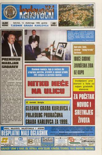 Karlovački tjednik: 1998 • 46