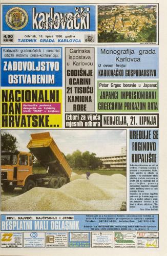 Karlovački tjednik: 1998 • 25