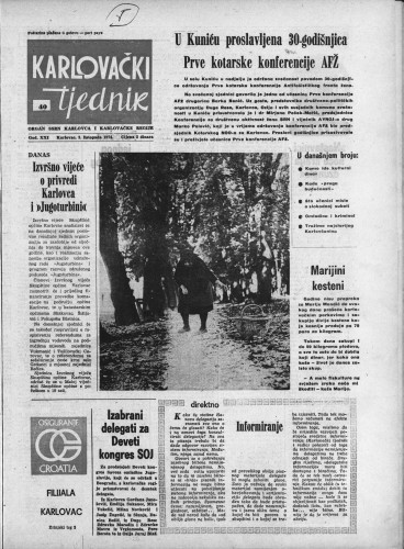 Karlovački tjednik: 1974 • 40