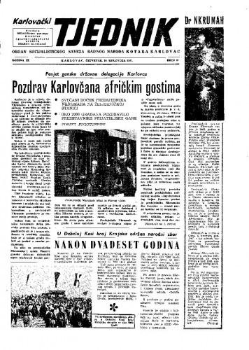 Karlovački tjednik: 1961 • 31