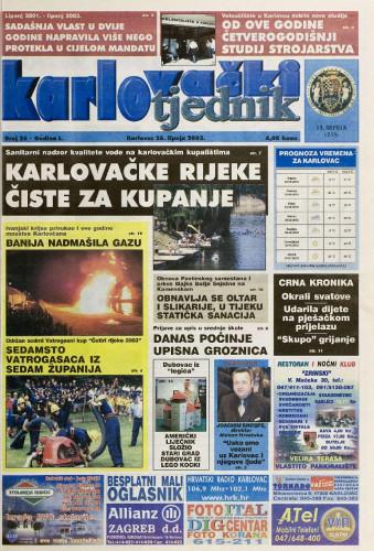 Karlovački tjednik: 2003 • 26