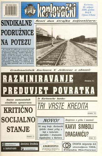 Karlovački tjednik: 1996 • 9