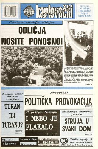 Karlovački tjednik: 1996 • 20