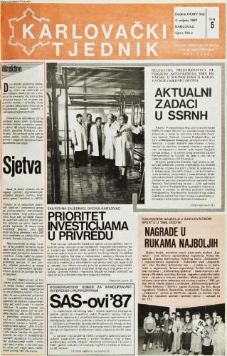 Karlovački tjednik: 1987 • 5
