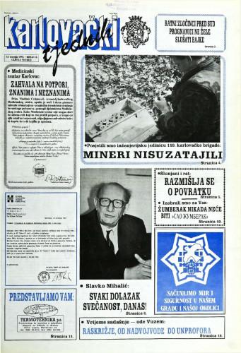 Karlovački tjednik: 1992 • 16