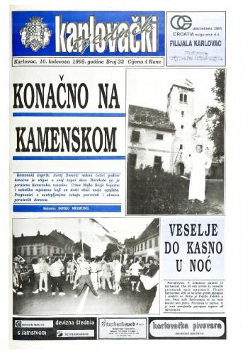Karlovački tjednik: 1995 • 32