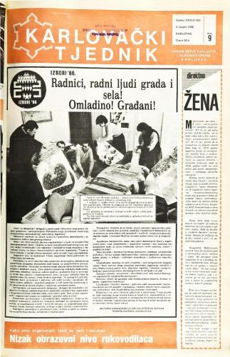 Karlovački tjednik: 1986 • 9