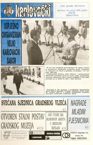 Karlovački tjednik: 1996 • 29