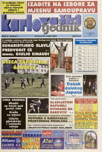 Karlovački tjednik: 2003 • 13