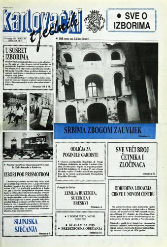 Karlovački tjednik: 1992 • 29
