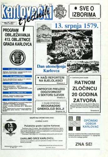 Karlovački tjednik: 1992 • 27