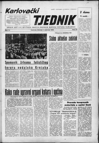 Karlovački tjednik: 1958 • 32
