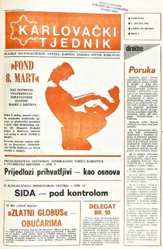 Karlovački tjednik: 1988 • 9