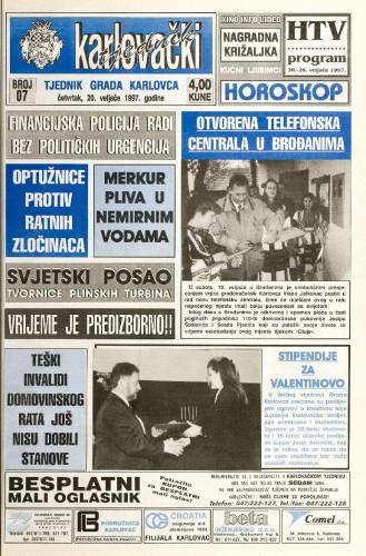 Karlovački tjednik: 1997 • 7