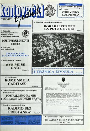 Karlovački tjednik: 1992 • 10