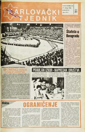 Karlovački tjednik: 1986 • 21