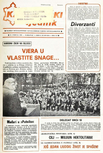 Karlovački tjednik: 1988 • 20