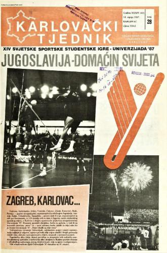 Karlovački tjednik: 1987 • 28