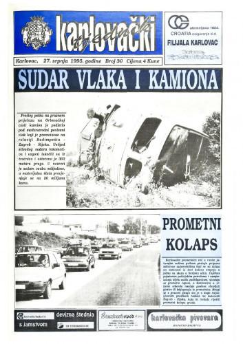 Karlovački tjednik: 1995 • 30